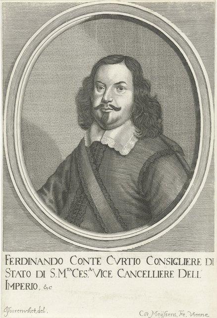 Portret van Ferdinand Sigismund Kurtz von Senftenau