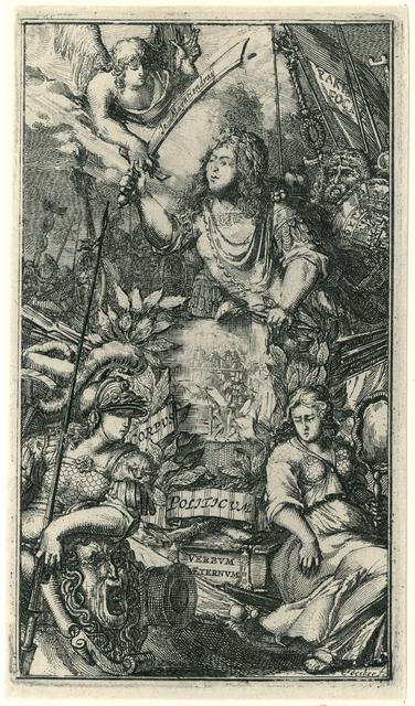 Allegorie op de politieke en militaire macht van Willem III, 1672