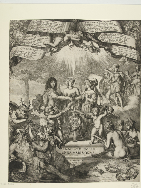 Allegorie op het huwelijk van Franciscus Mollo en Anna Maria Ooms, 1674