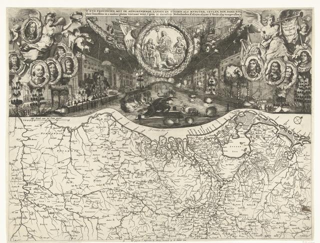Vreugdevuren te Den Haag bij de Vrede van Westminster, 1674