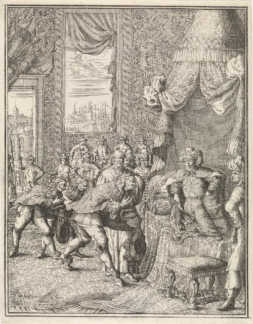 Vasco da Gama op audiëntie bij koning van Calcutta