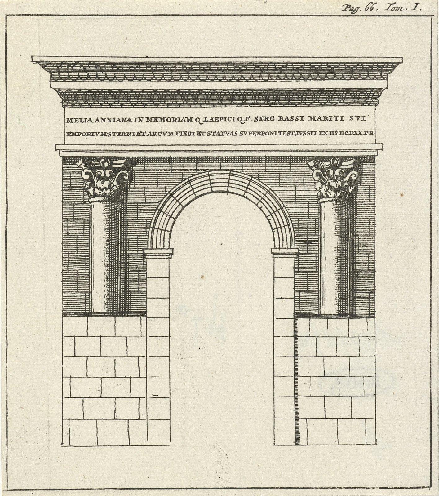 Romeinse poort bij Zara