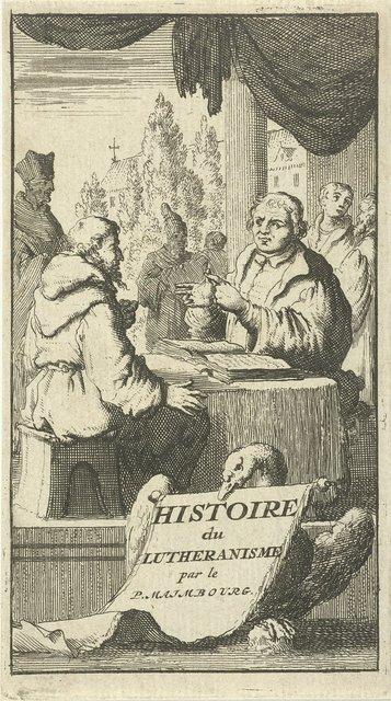 Discussie tussen Luther en een monnik