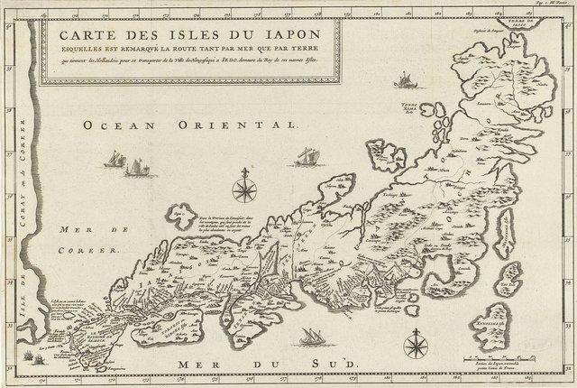 Landkaart van Japan