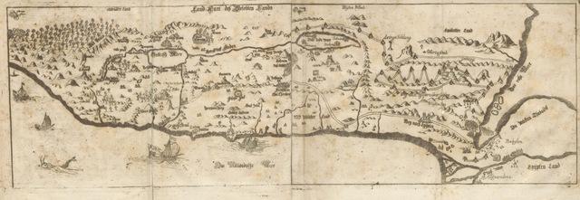 """map from """"Leonis Flaminii Itinerarium per Palæstinam, das ist, eine ... Reiss-Beschreibung ... worbey auch allerhand Figuren befindlich, etc"""""""