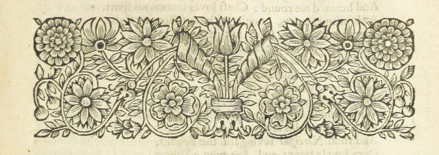 """Printer's ornament from """"The Second Part of the Works of Mr. Abraham Cowley. Being what was written and published by himself in his younger years. And now reprinted together. The fourth edition. [Consisting of """"Poetical Blossomes,"""" """"Love's Riddle"""" and """"Naufragium Joculare."""" With portraits.]"""""""