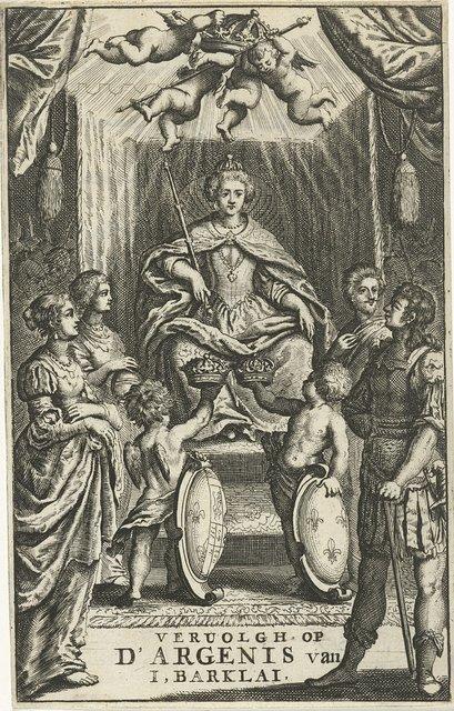 Tronende vorstin krijgt twee kronen aangeboden