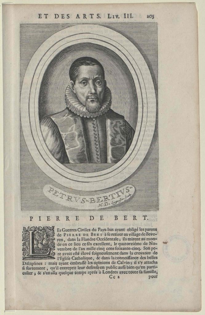 Bert, Pierre de