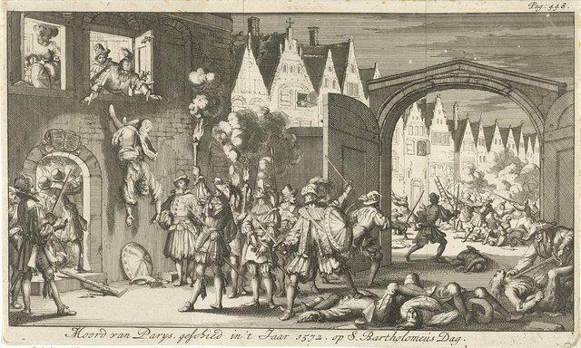 Moordpartij tijdens de Bartholomeüsnacht te Parijs, 1572