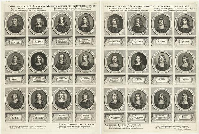 Portretten van vierentwintig predikanten van Amsterdam, werkzaam tussen 1681-1686