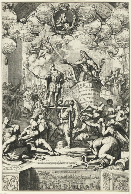 Allegorie op de troonopvolging van Leopold I door zijn zoon Jozef I, 1687