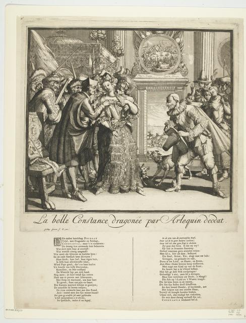 Spotprent op Lodewijk XIV en de vervolging van de protestanten in Frankrijk, 1689