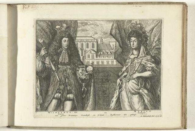 Portretten van koning Willem III en koningin Maria II Stuart, 1689