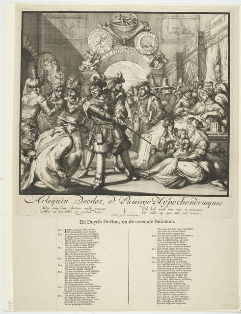 Spotprent op de inmenging van Lodewijk XIV in de Engelse troonopvolging, 1689