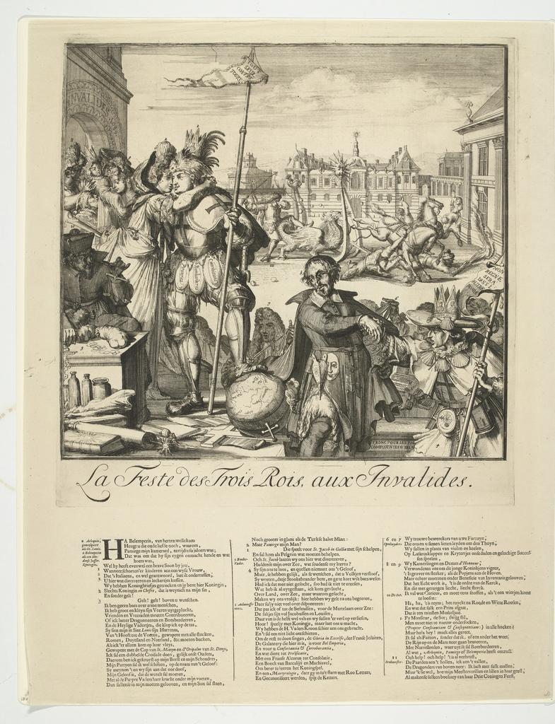 Spotprent op de vlucht van Jacobus II naar Franrkijk, 1689