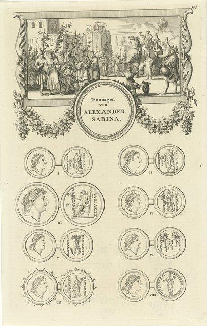 Alexander II Zabinas verkleed als Bacchus op een olifant