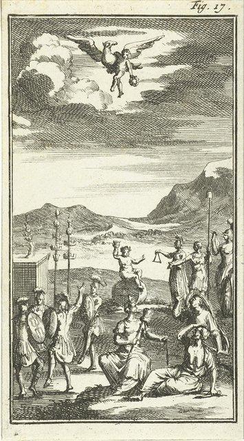 Bacchus heft zijn wijnglas op de vrede