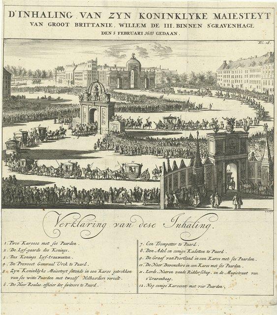 Intocht van koning Willem III te Den Haag, 1691