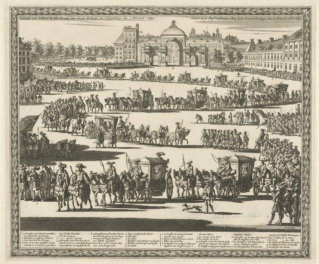 Intrede van koning Willem III te Den Haag, 1691