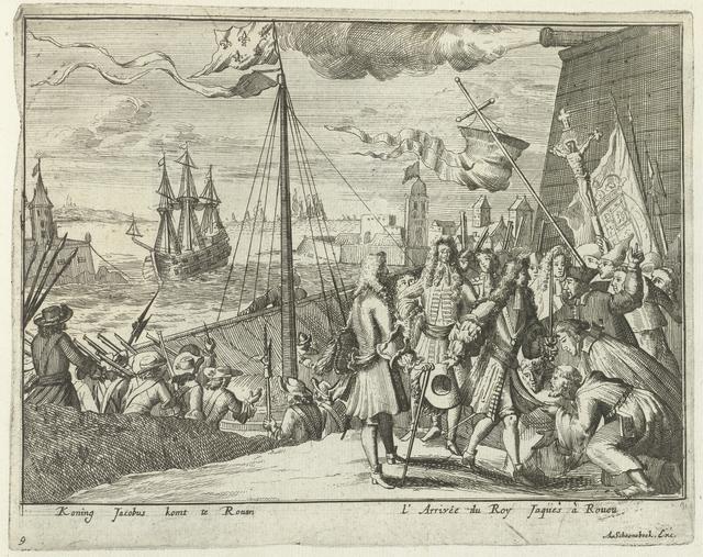 Jacobus II komt aan te Rouen, 1690