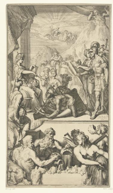 Titelprent voor 'Atlas nouveau, contenant toutes les parties du monde' van Guillaume Delisle