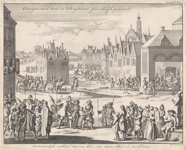 Orange opgeschrikt door gruwelijke daden van de cavalerie, 1685