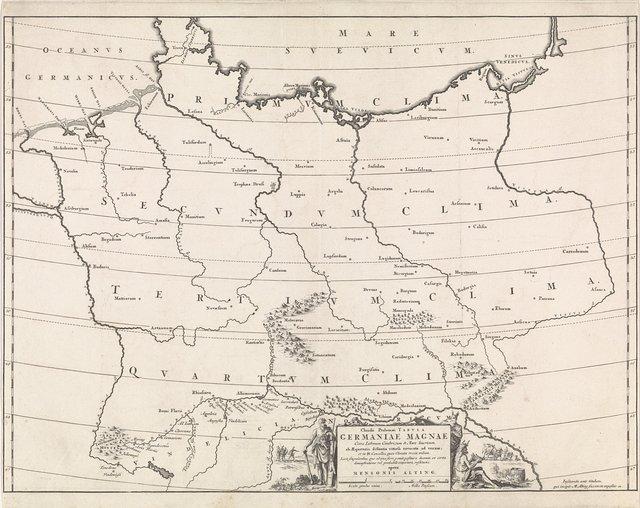 Historische kaart van Duitsland