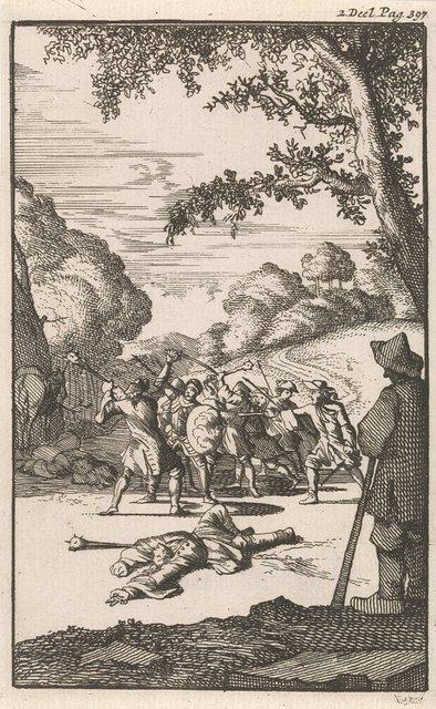 Strijd van Don Clarazel met de schout en zijn dienaars nabij Tours