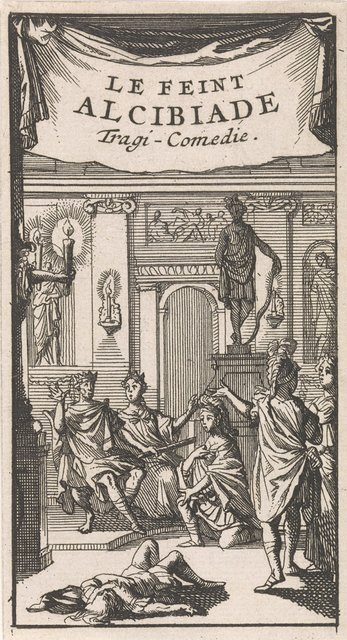 "Titelpagina voor ""Le feint Alcibiade"", in: P. Quinault, Le theatre, deel I, 1697"