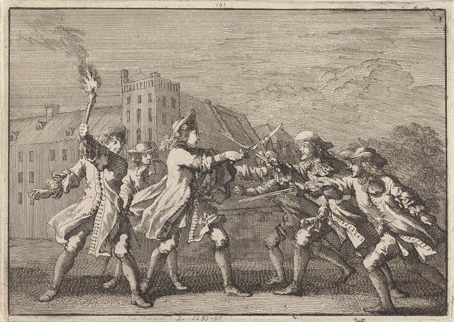 Aanslag op Johan de Witt in Den Haag bij het Binnenhof, 1672