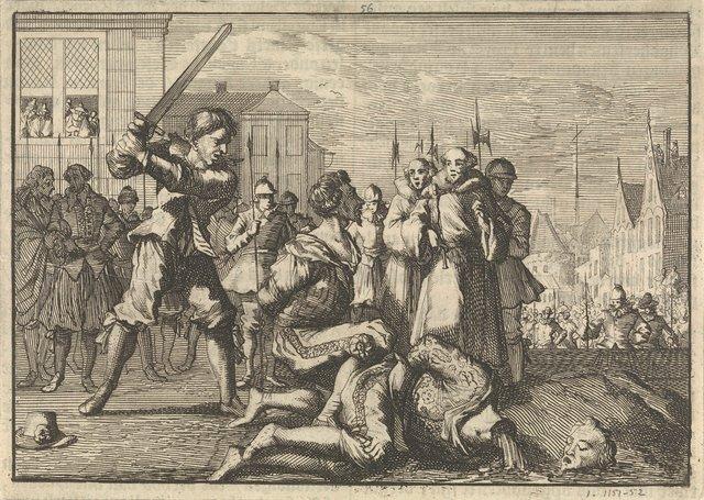 Beruchte duellisten De Bouteville en de graaf van Chapelle worden te Parijs onthoofd, 1627