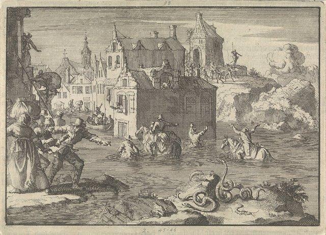 Hoog water tijdens het beleg van Wolfenbüttel, 1641