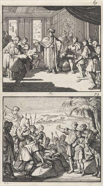 Jozef ontvangt zijn broers / Jozefs beker gevonden in de graanzak van Benjamin