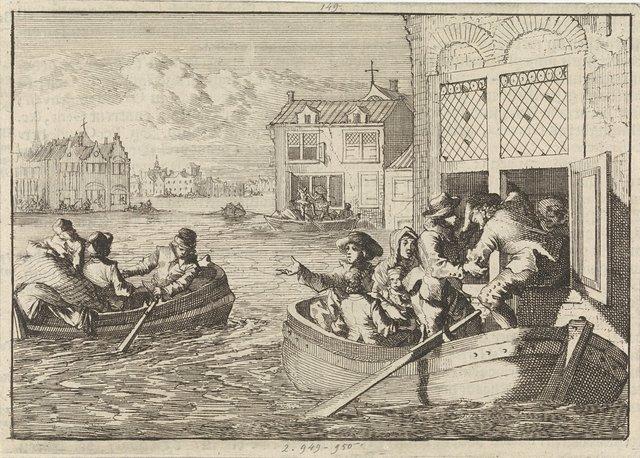 Overstroming te Parijs, 1658