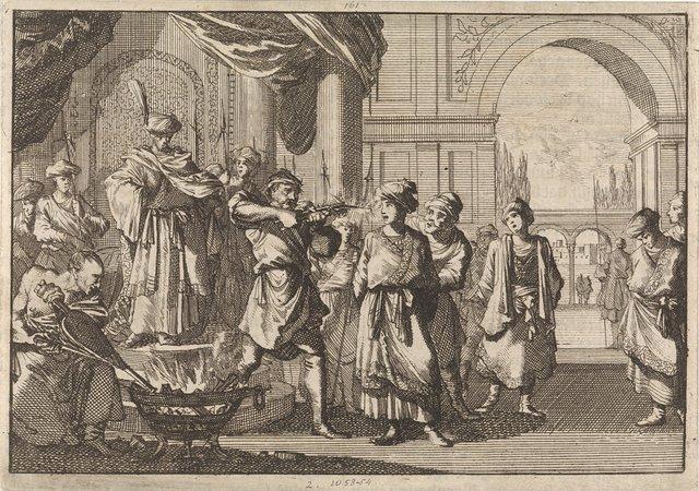 Selim IV, shah van Perzië, laat zijn broer blind maken door een gloeiend ijzer, 1694