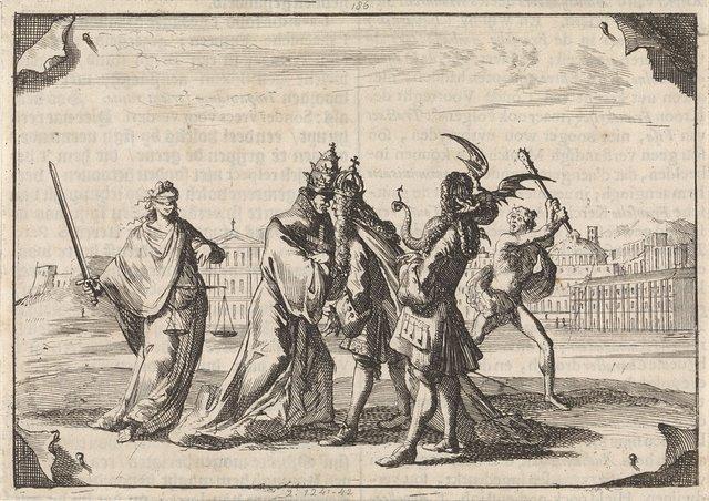Spotprent over de strijd tussen Lodewijk XIV en paus Innocentius XI, 1687