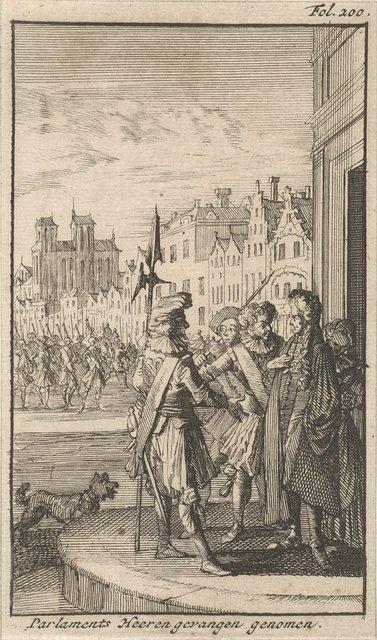 Arrestatie van een lid van het Parlement van Parijs, 1648