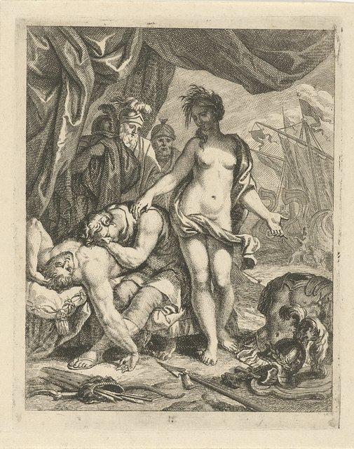 Achilles treurt om de dood van Patroclus