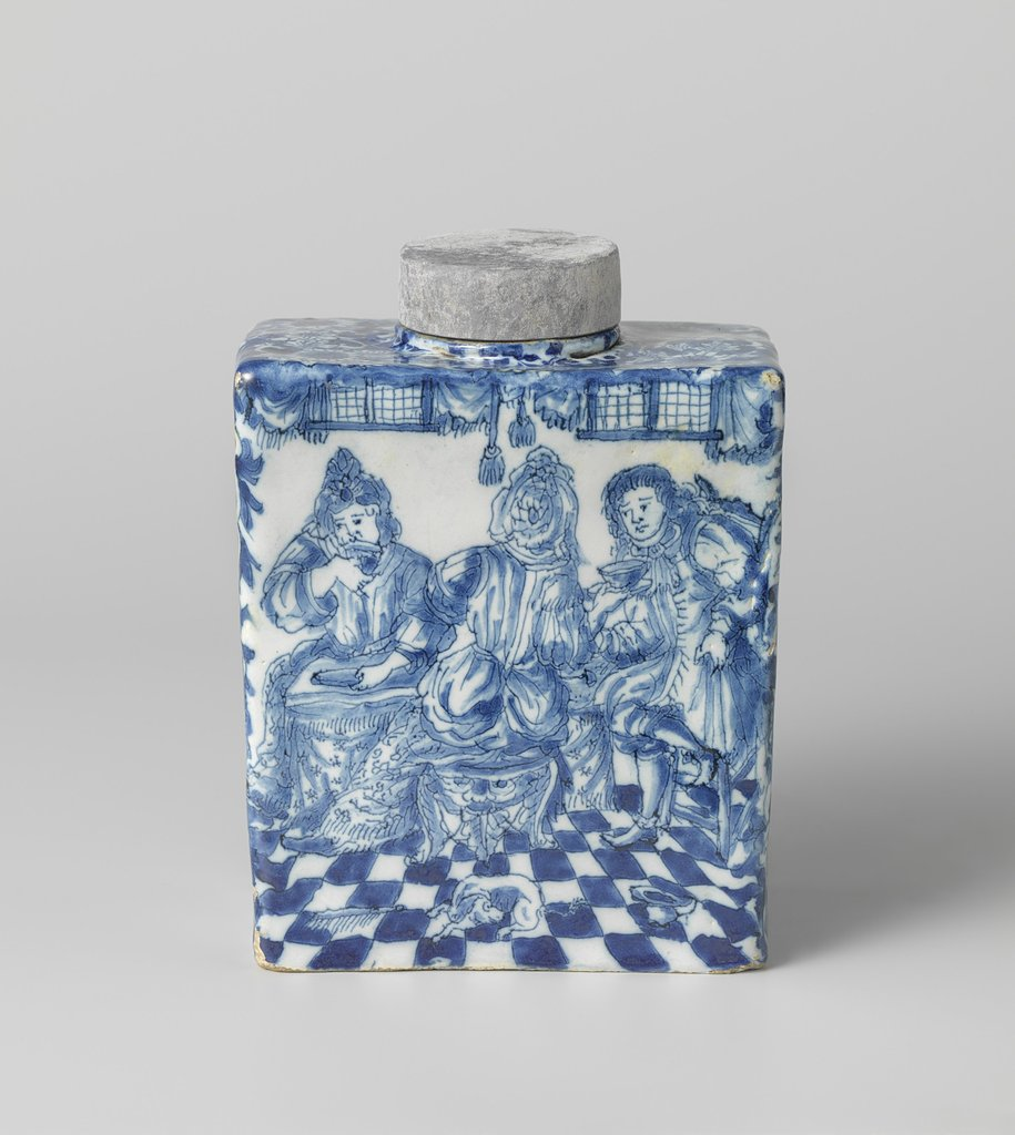 Tea canister with a maternity visit