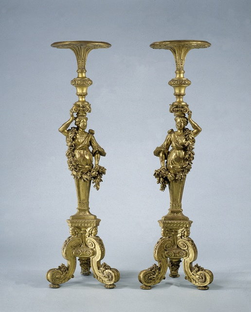 Two candle stands guéridons