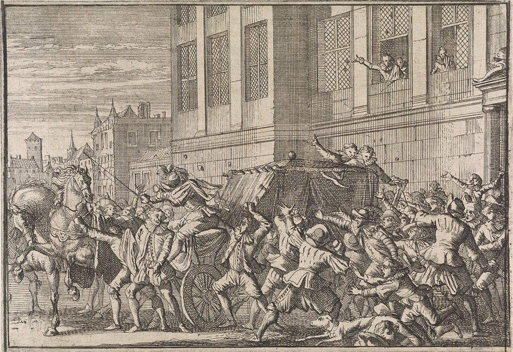 Aanval te Madrid op het rijtuig van de graaf van Olivares, Gaspard de Gusmán, 1643