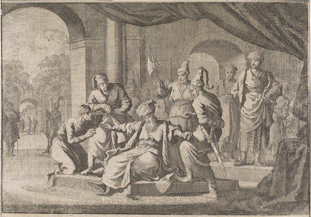 Mustafa, de neef van sultan Murat IV, wordt op zijn bevel gewurgd, 1639