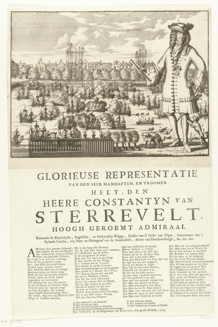 Spotprent op admiraal Sterrevelt, 1703