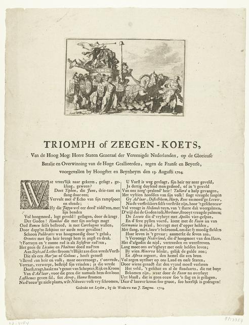 Allegorie op overwinning bij Höchstädt, 1704