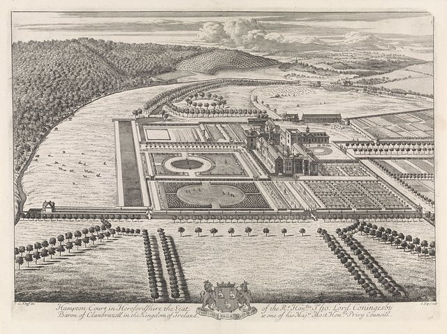 Gezicht op Hampton Court