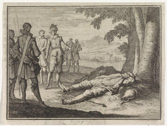 Filips de Goede vindt een beschonken boer onder een boom