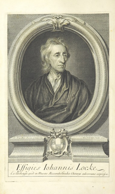 """portrait from """"The Works of John Locke, etc. (The Remains of John Locke ... Published from his original manuscripts.-An account of the life and writings of John Locke [by J. Le Clerc]. The third edition, etc.) [With a portrait.]"""""""