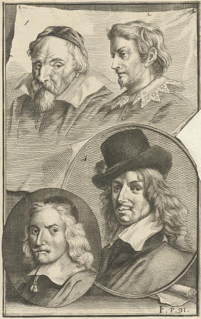 Portretten van Frans Hals, Wenzel Coebergher, Lucas van Uden en, Wybrand de Geest