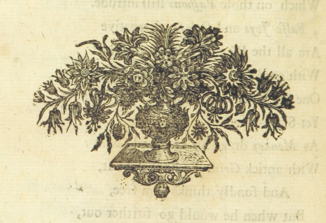 "decoration from ""Miscellany Poems on several subjects. [By Elizabeth Thomas.]"""