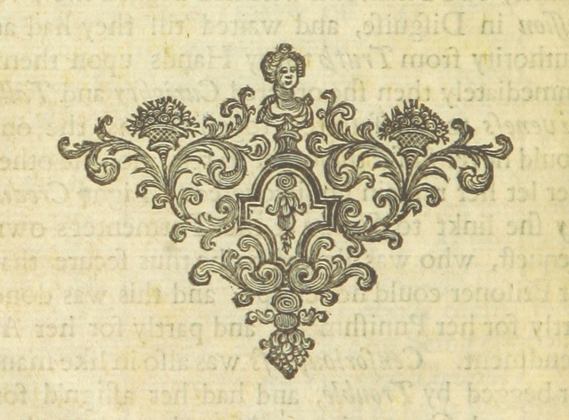 """decoration from """"Poems on several occasions ... Published [with a dedication, in verse] by Mr. Pope. (Visions [in prose], published in the Spectators, etc.)"""""""